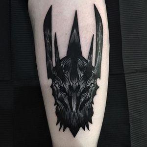 Sauron Tattoo by Rud De Luca #Sauron #SauronTattoos #SauronTattoo #LordoftheRings #LordoftheRingsTattoos #LordoftheRingsTattoo #TheLordoftheRings #FilmTattoos #RudDeLuca