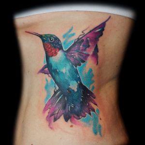 #InkedByMario #MarioGregor #aquarela #watercolor #TatuadorGringo #colorida #colorful #beijaflor #hummingbird