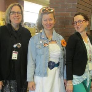 A photo of some of the staff at Durango Public Library (Coleen Galvin on the left). #bookrecommendations #DurangoPublicLibrary #librarians #literature #tattoopromotion