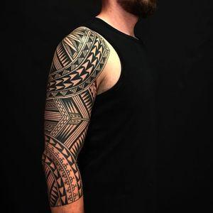 Tribal pattern by Jeroen Franken #JeroenFranken #blackwork #tribal #pattern #tattoooftheday