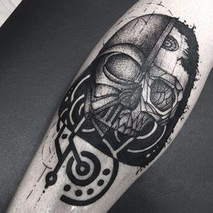 Darth Vader #PedroVeloso #brazilianartist #tatuadoresdobrasil #brasil #brazil #blackwork #darthvader #starwars #skull #caveira #filme #movie #nerd #geek #StarDeath #EstrelaDaMorte #pontilhismo #dotwork