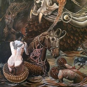 Chaos by Alex Reisfar (via IG-alexreisfar) #surrealism #artist #artshare #painting #fineart #AlexReisfar