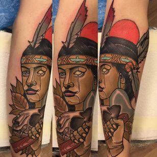Native American Tattoo by Piotr Gie #NeoTraditional #NeoTraditionalArtist #NeoTraditionalTattoos #ModernTattoos #BoldTattoos #PiotrGie