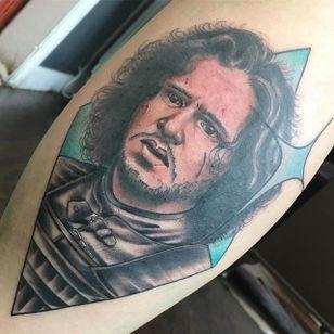 Jon Snow Tattoo by Matt Youl @Theyoul #Mattyoultattoo #Neotraditional #Nerdytattoo #Portrait #Jonsnow #Gameofthronestattoo