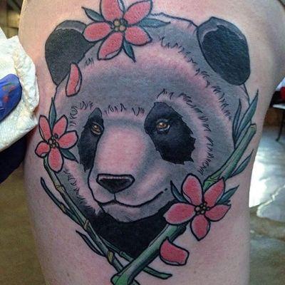 Panda by Andy Robinson (via IG --andyrobinsontattoo) #andyrobinson #panda