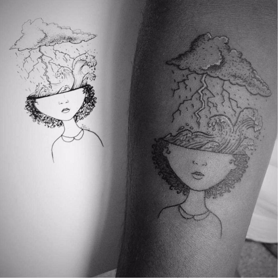 Por Jessica Rodrigues! #JessicaRodrigues #finelinetattoo #fineline #pontilhismo #tatuadorasdobrasil