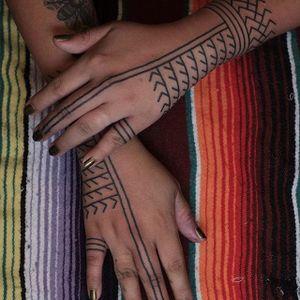 Ornate hand pieces by Victor J. Webster. #VictorJWebster #blackwork #ornate #ornamental #tribal #handpiece #kalinga