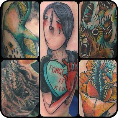 A collection of pieces by Myles Karr (via IG -- myleskarr) #myleskarr #heart #seahorse #whale