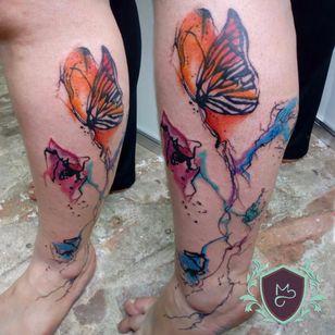 Borboletas! #AndreMelo #tatuadoresdobrasil #sketch #borboleta #butterfly #colorida #colorful #aquarela #watercolor