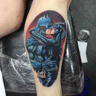 Batman Tattoo by Alex Rattray #Batman #Portrait #ColorPortrait #ColorRealism #PopCulture #AlexRattray