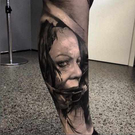 Fetish tattoo by Neon Judas #NeonJudas #DavidRinklin #blackandgrey #realistic #realism #macabre #horror