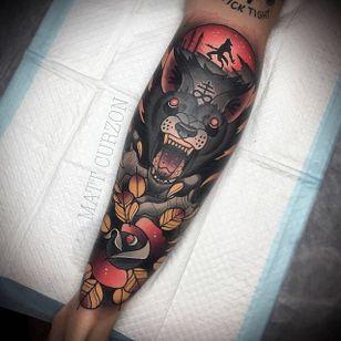 Werewolf Tattoo by Matt Curzon #wolf #werewolves #werewolf #horror #horrorcreature #halloween #MattCurzon