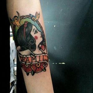 Snow White tattoo by Kong Tattooer. #snowwhite #disney #disneyprincess #princess #fairytale