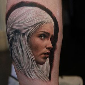 Mother of Dragons tattoo by Rich Pineda @richiebon #RichPineda #gameofthrones #motherofdragons