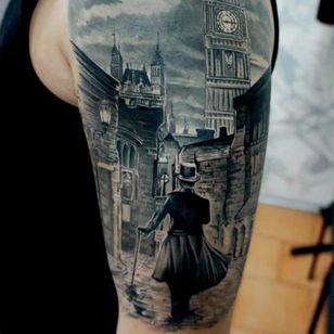 Jack the Ripper tattoo by Pavel Roch. #JacktheRipper #serialkiller #history #england #london #killer #blackandgrey