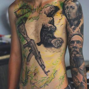 Work in progress of a fallen solider by Thanh Cao (via IG -- greystork.thanhcao) #thanhcao #vietnamwar #unfinished