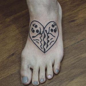 Ghost heart tattoo by Woohyun Heo #WoohyunHeo #ghost #love #heart (Photo: Instagram)