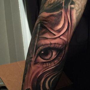 Black and grey eye by Miguel Camarillo. #blackandgrey #realism #MiguelCamarillo #eye #eyeball