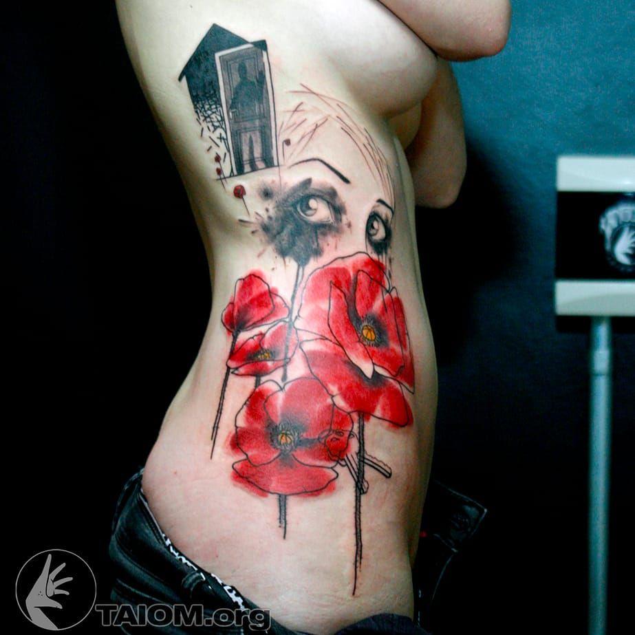 Taiom! #Taiom #Tatuadoresbrasileiros #TattooBrasil #TattooBr #TattoodoBr #conceitual #concept #conceptual #woman #watercolor #flower #key #flor #chave