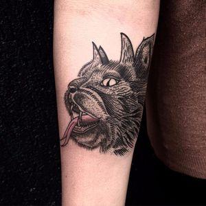 Satanicat por Rafew Oliveira! #Tatuadoresbrasileiros #tatuadoresdobrasil #tattoobrasil #Curitiba #satanicat #cat #gato #cobra #snake #satan #satanic #capiroto