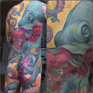 Octopus Back Tattoo by Steve Moore #back #backtattoo #backpiece #largetattoos #bigtattoos #SteveMoore