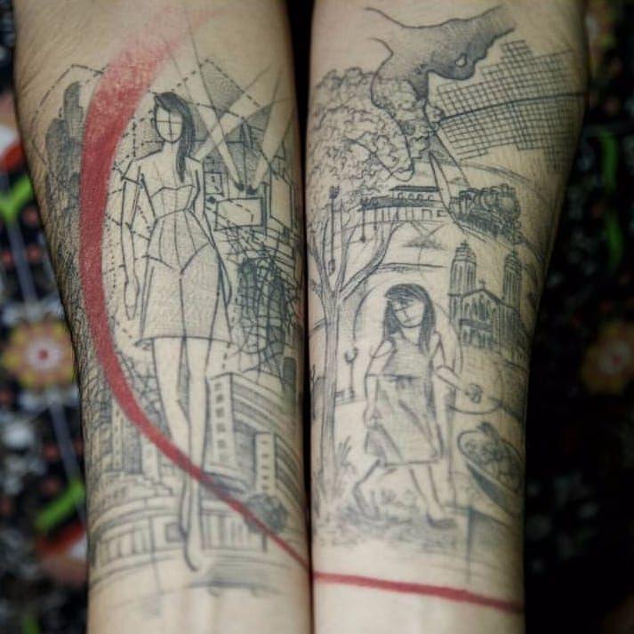 Tattoo por Taiom! #Taiom #Tatuadoresbrasileiros #TattooBrasil #TattooBr #TattoodoBr #conceitual #concept #conceptual #woman #mulher #fineline #linhafina #traçofino