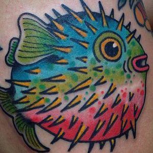 Pufferfish Tattoo by Billy White #pufferfish #fish #sealife #BillyWhite