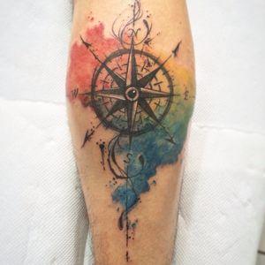 Rosa dos ventos. #DanielArtDesign #TatuadoresDoBrasil #TattoodoBR #aquarela #watercolor #sketch #rosadosventos