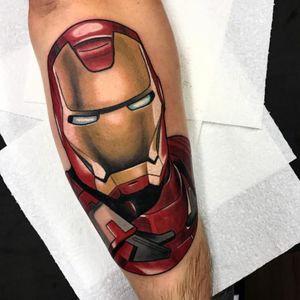 Iron Man. (via IG - gibb0o) #neotraditional #portrait #character #gib #ironman