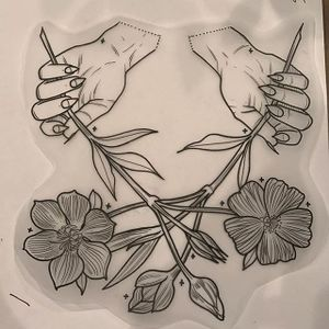Flowers by Tine Defiore (via IG-tinedefiore) #hand #linework #illustration #minimalistic #blacktattoo #TineDefiore