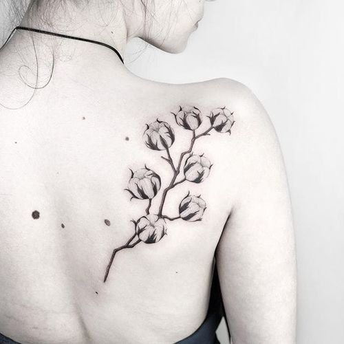 #AnastasiaSlutskaya #nastyafox #gringa #blackwork #flor #flower #plant #planta
