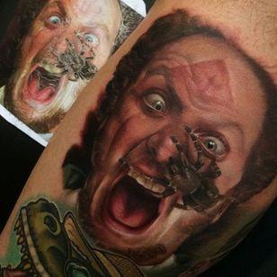 Daniel Stern tattoo by Kyle Cotterman (via IG -- staciemayer) #KyleCotterman #homealone #homealonetattoo