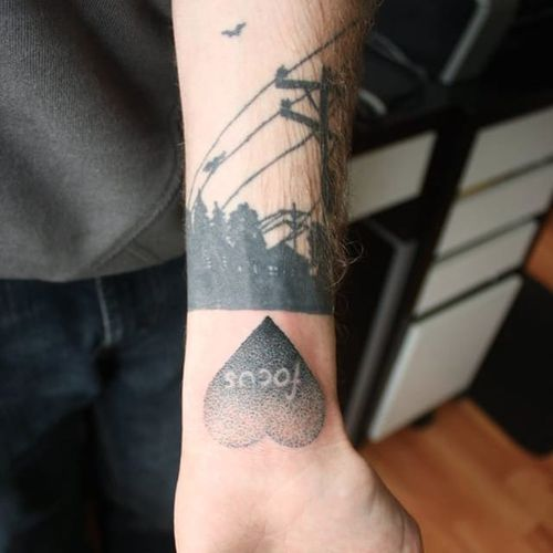 Pointillism tattoo by Auberon Wolf. #auberonwolf #canada #canadian #pointillism