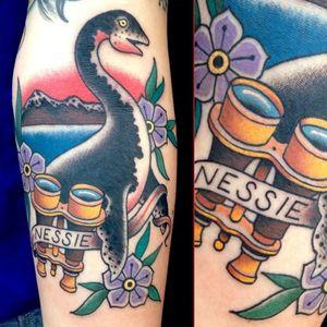 Traditional take on Nessie via @deandenney #deandenney #nessie #lochnessmonster #traditional #lochness