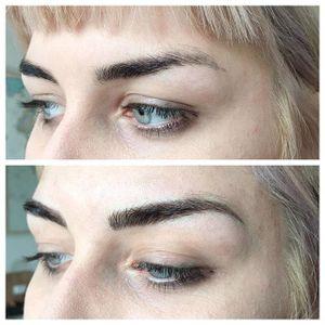 Eyebrow tattoos by Audrey Glass. #AudreyGlass #eyebrow #cosmetic #beauty