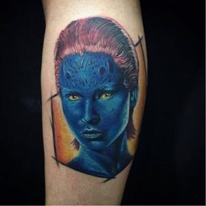 Tatuagem feita em um Workshop ministrado por Kleby'z. #mistica #xmen #nerd #KlebyzTattoo #KlebyzSoares #comics #comicsRealista #realismo #realismoColorido #colorido #colorful #ElectricInk #InkTeam