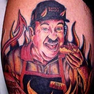 Time to make the donuts! Does anyone else remember this? Or am I just old? By Julio Rodriguez at Darkside Tattoo #juliorodriguez #dunkindonuts #donuts