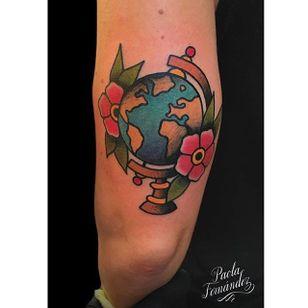 Earth tattoo by @paola.fdz #earth #earthtattoo #climatechange #planetearth