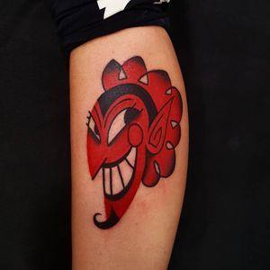 Him tattoo by Uve #Uve #colortattoo #cartoontattoo #newtraditionaltattoo #Himtattoo #powerpuffgirlstattoo #redinktattoo #villaintattoo #deviltattoo #satantattoo #tattoooftheday