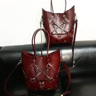 Pentagram Handbag in Oxblood (via IG-zanabayne) #harness #bdsm #leather #pentagram #handbag #fashion #zanabayne