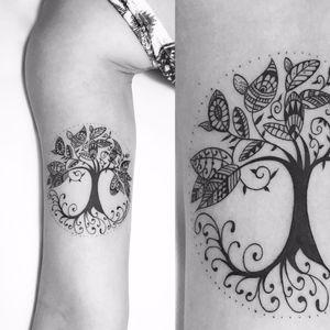 Árvore feita por Cabelo Tattoo! #CabeloTattoo #tatuadoresbrasileiros #tree #árvore #treetattoo #árvoretattoo #delicate #delicada #deliatetattoo #tatuagemdelicada