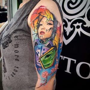 Por Klebyz Soares! #KlebyzSoares #tatuadoresbrasileiros #colorido #fullcolor #fullcolortattoo #tattoocolorida