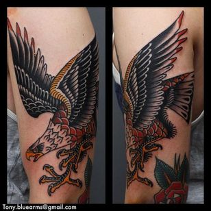 Eagle Tattoo by Tony Nilsson #Eagle #traditional #classictattoos #TonyNilsson