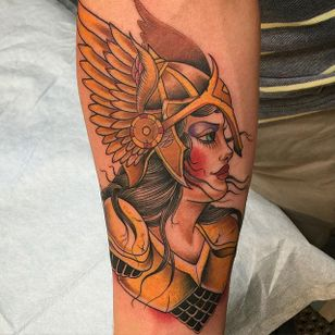 Valkyrie Tattoo by Obed Comparan #ValkyrieTattoo #Valkyrie #NorseMythology #NorseTattoos #NordicTattoo #ObedComparan