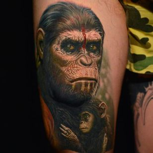 Planet of the Apes Tattoo by Nikko Hurtado @NikkoHurtado #NikkoHurtado #Cinematic #Portrait