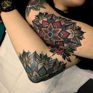 Geometric Tattoo by Mico @micotattoo #micotattoo #geometric #mandala #traditional