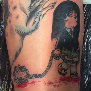 Gogo Yubari Tattoo by Kenny Devin #GogoYubari #gogoyubari #killbill #tarantino #movieink #KennyDevin