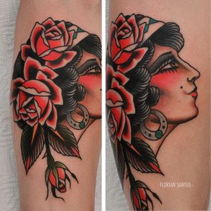One of Florian Santus' rose-covered lady heads (IG—floriansantus). #FlorianSantus #ladyheads #roses #traditional