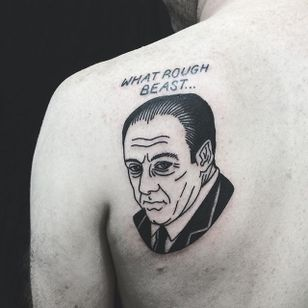 Tony Soprano Tattoo by Matt Cooley #traditional #traditionalportrait #MattCooley #Sopranos