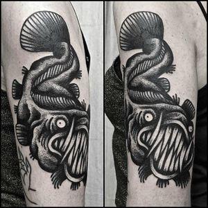Blackwork Tattoo by Simone Ruco #blackwork #traditionalblackwork #blacktattoos #blackink #SimoneRuco